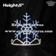 Wholesale 5inch Height Snowflake Crowns--Blue color