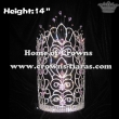 14in Height Big Tall Pageant Queen Crowns With Diamonds