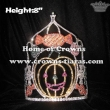 8in Height Rhinestone Pumpkin Halloween Crowns With Candy Cane