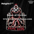 Red Angle Girl Pageant Crowns