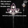 Purple Diamond Crystal Scepter