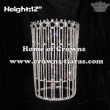 12inch Big Tall Clear Queen Crowns