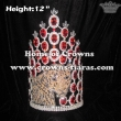 Crystal Jungle Tiger Pageant Crowns With Red Diamonds