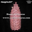 Big Pink Heart Shaped Crystal Rhinestone Crowns