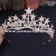 Alloy Crystal Star Party Queen Tiaras In Gold Plated