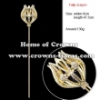 Rhinestone Tulip Pageant Scepter