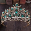 Wholesale Pageant Tiaras In Heart Shaped With Blue Big Diamonds