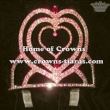 Pink Rhinestones Heart Shaped Pageant Stock Crowns