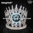 Crystal Diamond Pageant Crowns With Dangle Star Accessory