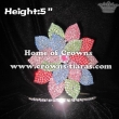5in Height Crystal Flower Pageant Crowns In 3D view