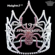 7inch Rhinestone Crystal Pageant Spider Crowns