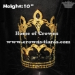 10inch Fleur De Lis Rhinestone Pageant Crowns