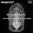 12inch Height Diamond Peacock Crystal Crowns