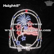 Red Blue White Firework 4th of July Pageant Crowns