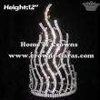 Wholesale 12in Height Crystal Spike Shinny Pageant Crowns