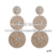 Silver Rhinestone Round Shaped Earrings