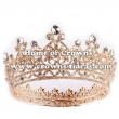 Crystal Full Round Pageant Crowns With Comfort Bottom
