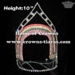 10inch Rainbow Crystal Crowns In Wholesale