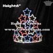 Red White Blue Rhinestones 4th Of July Pageant crowns