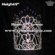 9in Red White Blue Crystal Rhinestones Crowns