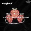 Crystal Rhinestone Strawberry Princess Crowns