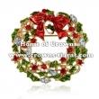 Crystal Christmas Jingle Bells Brooch Pins