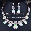 Fashion crysal AB Diamond Necklace Set