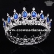 Alloy Crystal Full Round Pageant Crowns With Red Diamond