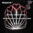 6inch Red Crystal Heart Valentines Crowns