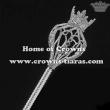 Large Crystal Rhinestone Coser Scepter