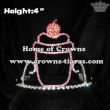 4inch Cupcake Crystal Crowns With Combs