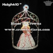 10in Height Pageant Crowns With Dressing Princess