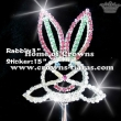 Crystal Rabbit Shaped Pageant Crowns Scepters
