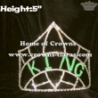 Wholesale Green Rhinestone KING Crown Boy Crowns