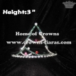 3inch Crystal Christmas Tree Crowns