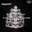 6in Height Pageant Crowns With AB Diamonds