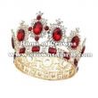 Gold Plated Crystal Large Pageant Queen Crowns ---Big Size