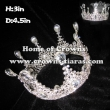 High Quality Crystal Full Round Rhinestones Crowns