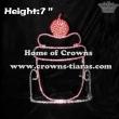 Pink Cupcake Crystal Crowns