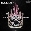 AB Crystal Pink Spike Crystal Pageant Crowns