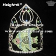 8in Height Unique Fish Crystal Pageant Crowns