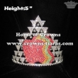 5in Height Apple Crystal Crowns