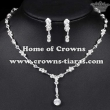 Wholesale Crystal Necklace Earrings Set