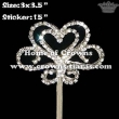 Double Side of Crystal Pageant Scepters