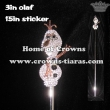 Frozen Olaf Crystal Pageant Scepters