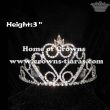 3inch Crystal Rhinestone Princess Tiaras
