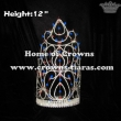12inch Height Big Red White Blue Pageant Crowns