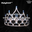 4in Height Crystal Stock Crowns With Blue Diamonds