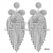 Fashion Large Big Rhinestone Party Earrings