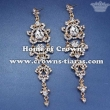 Crystal Wedding Earrings With Gold Plated